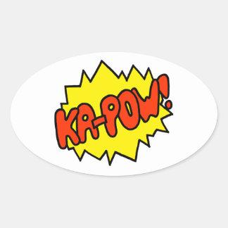 Comic 'Ka-Pow!' Oval Sticker