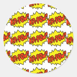 Comic 'Ka-Pow!' Round Sticker