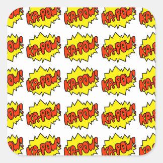 Comic 'Ka-Pow!' Square Sticker