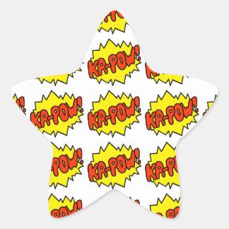 Comic 'Ka-Pow!' Star Sticker