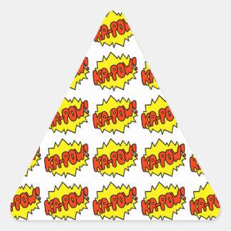 Comic 'Ka-Pow!' Triangle Sticker