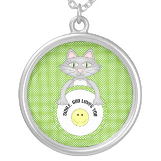 Comic Kitty Smile God loves you Jewelry