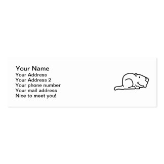 Comic marmot Double-Sided mini business cards (Pack of 20)