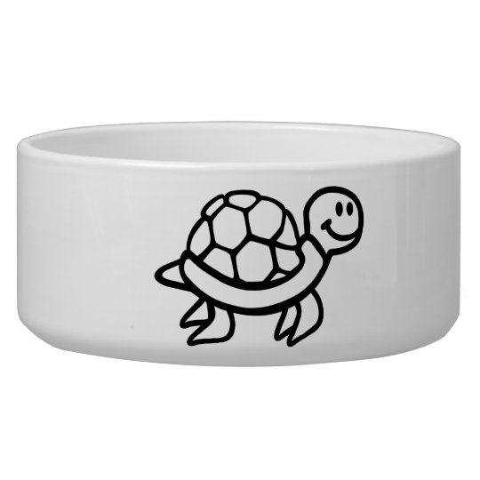 Comic ocean turtle pet food bowls