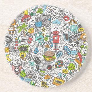 Comic Pop art Doodle Coaster