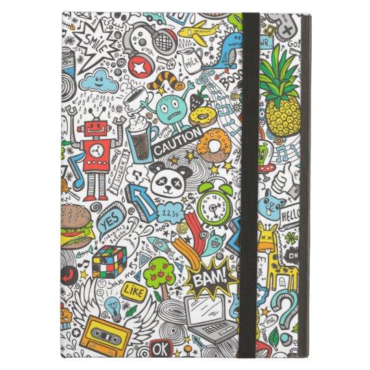 Comic Pop art Doodle iPad Air Cover