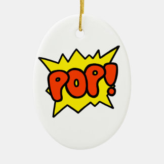 Comic 'Pop!' Ceramic Oval Decoration