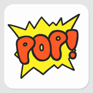 Comic 'Pop!' Square Sticker