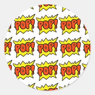 Comic 'Pop!' Round Sticker