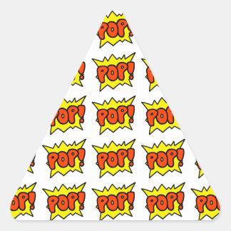 Comic 'Pop!' Triangle Sticker