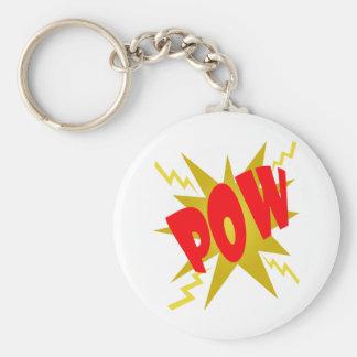 COMIC POW! BASIC ROUND BUTTON KEY RING