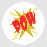 COMIC POW! ROUND STICKERS