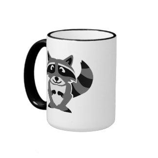 Comic raccoon coffee mug