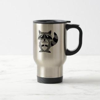 Comic raccoon coffee mugs