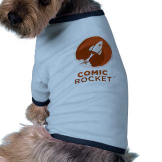 Comic Rocket Logo- Light Round Dog Tee