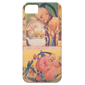 Comic Russian poster satirizing the Europeans in C iPhone 5 Cover
