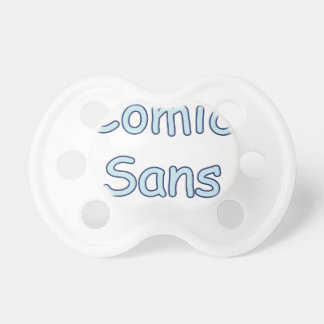 comic sans baby pacifier