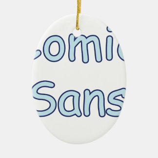 comic sans ceramic oval decoration