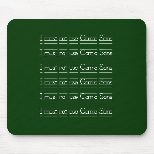 Comic Sans Mouse Mat