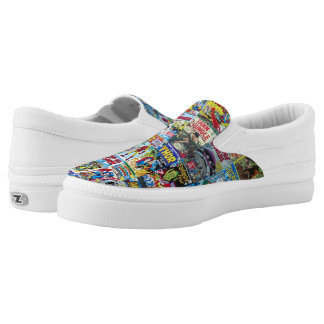 Comic Slip on Shoes Printed Shoes