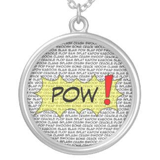 Comic Speak POW necklace