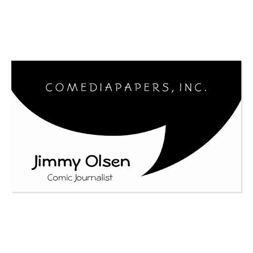 Create your own illustrator business cards comic speech bubble business card template colourmoves