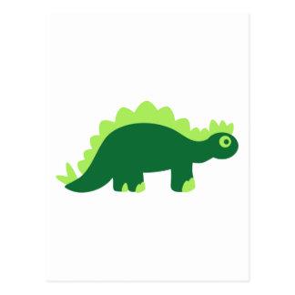 Comic stegosaurus postcard