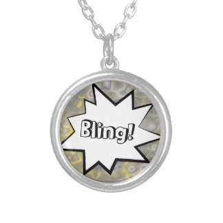 Comic Strip Bling! Silver Plated Necklace