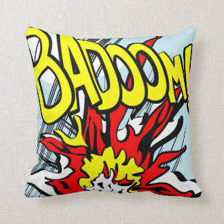 Comic-strip cushion – badoom!