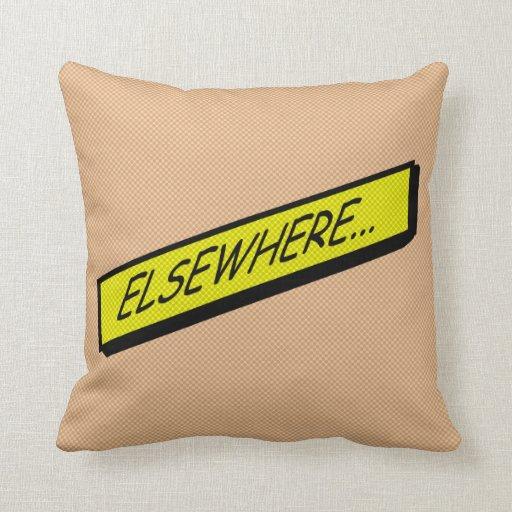 Comic-strip cushion – elsewhere... pillows