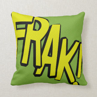 Comic-strip cushion – frak!