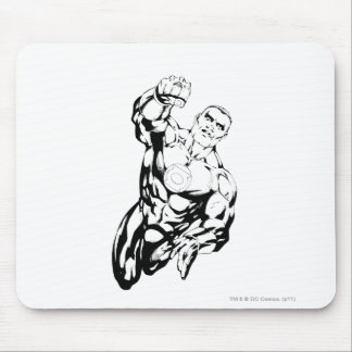 Comic Style - Flying Up, Black and White Mouse Pad