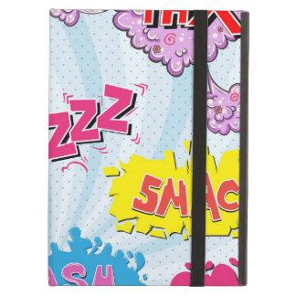 Comic Style Girly Super Hero Design iPad Air Cover