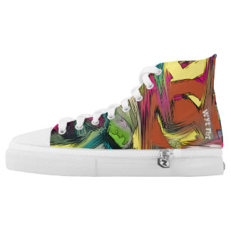 Comic style Graffiti on metal sign Printed Shoes