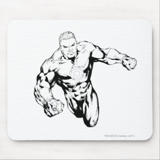 Comic Style - Green Lantern Black and White Mouse Pads