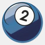 Comic Style Number 2 Billiards Ball Sticker
