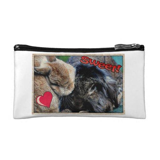 Comic Style Rabbit Makeup Bag