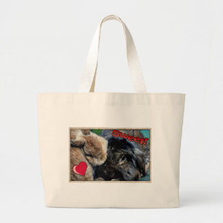 Comic Style Rabbit Tote bag