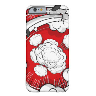 Comic Style Red Fight Clouds Barely There iPhone 6 Case