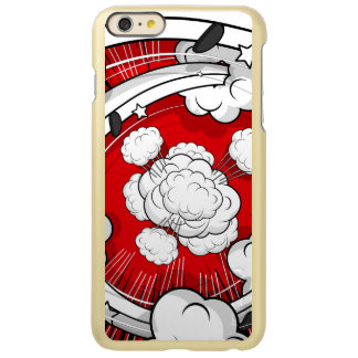 Comic Style Red Fight Clouds iPhone 6 Plus Case