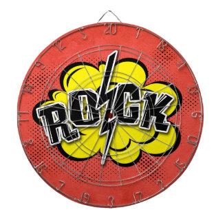 Comic style rock illustration dartboard