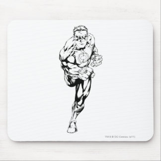 Comic Style - Running, Black and White Mouse Pad