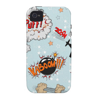 Comic Style Super Hero Design Vibe iPhone 4 Cover