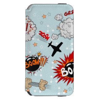 Comic Style Super Hero Design Incipio Watson™ iPhone 6 Wallet Case