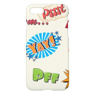Comic Style Super Hero Girly Design iPhone 7 Case