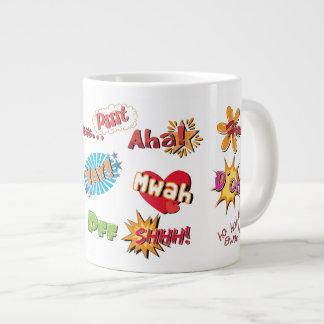 Comic Style Super Hero Girly Design Jumbo Mug