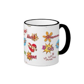 Comic Style Super Hero Girly Design Ringer Mug
