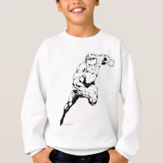 Comic Style - Swift Jump, Black and White Sweatshirt