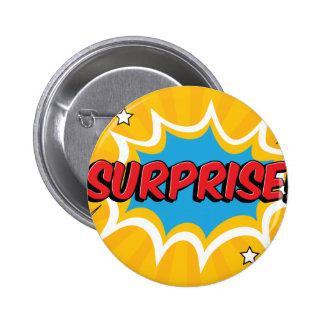 Comic Surprise Bubble 6 Cm Round Badge