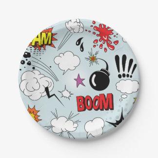 Comic Symbols Paper Plates